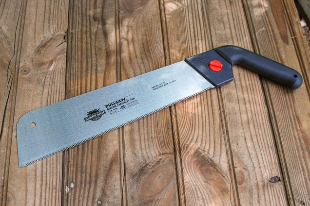 the Shark handsaw on a solid wood surface