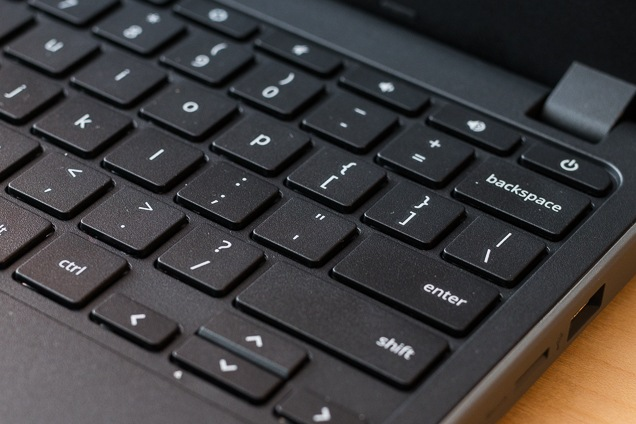 A close-up associated with the Acer Chromebook's device.