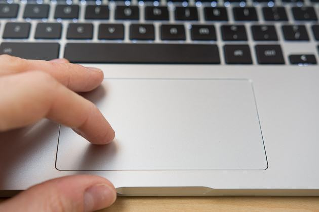 A owner contacting the turn Chromebook's trackpad.