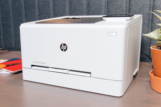 A close-up of our own pick for best laser therapy ink, the Hewlett Packard appearance LaserJet benefit M254dw.