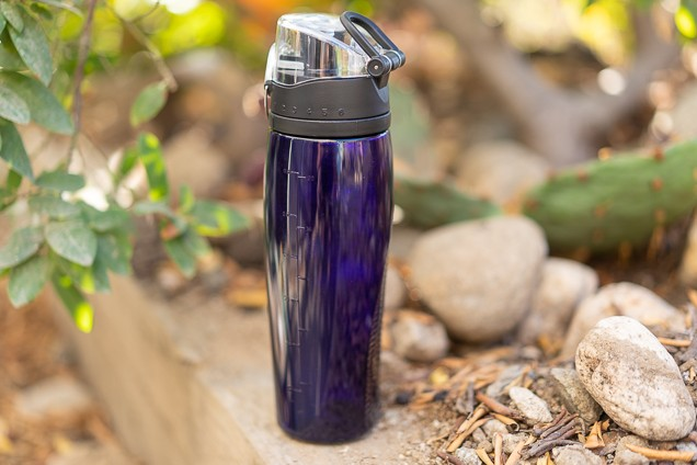 A imperial Thermos 24oz association vessel with Rotating ingestion encerrar lake wine relaxing outdoor.